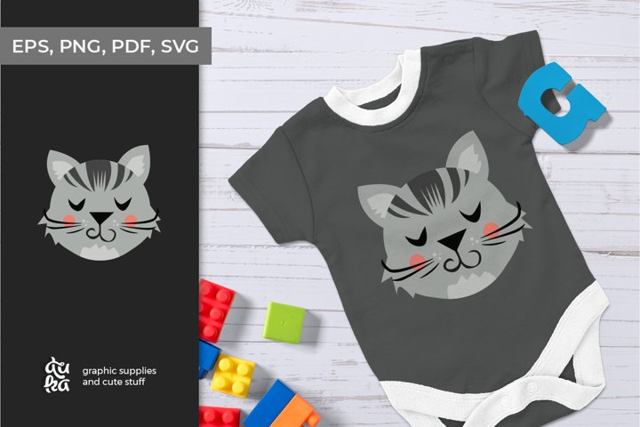 Cute animals character SVG - Cat