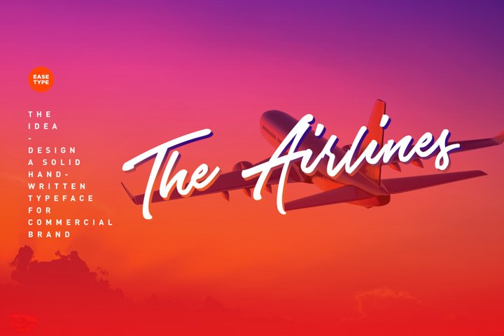 The Airlines - Free Font of The Week Design1