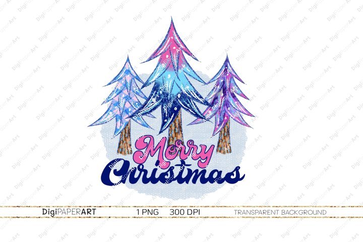 Merry Christmas PNG, Christmas Tree Sublimation Design