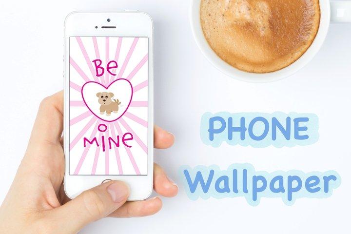 Phone Wallpaper - Valentine Collection - Be Mine BrownDog ..