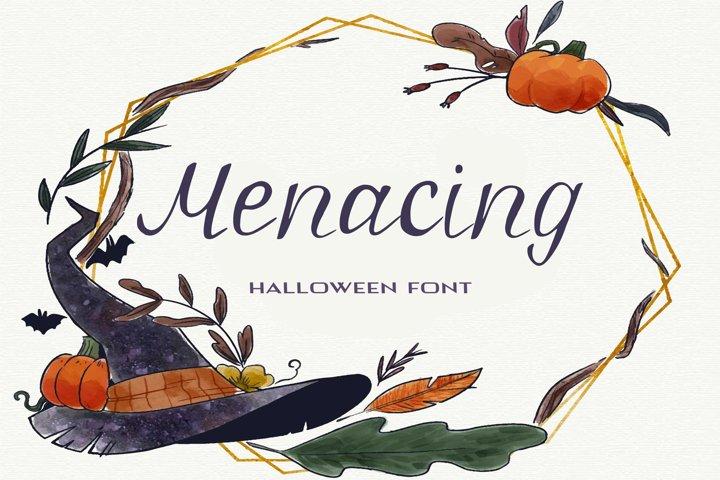 Menacing Halloween Font