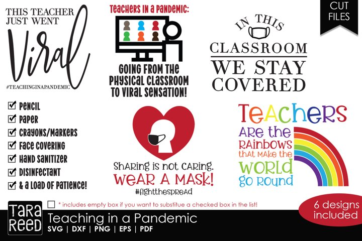 Teaching in a Pandemic - School SVG and Cut Files
