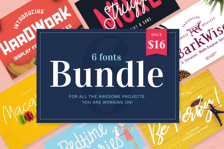 Font Bundle / 6 Awesome Fonts in a Bundle Deal