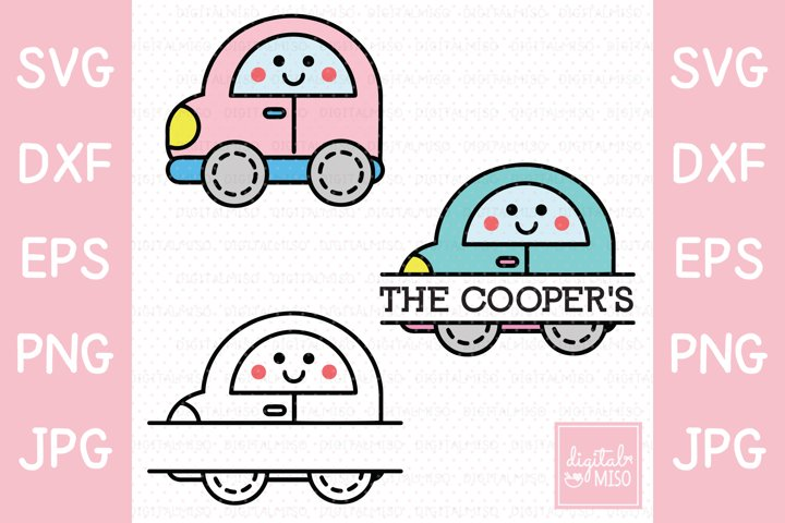 Vector Car SVG - Kawaii Vector