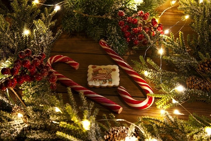Christmas candies canes