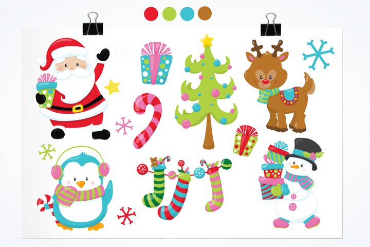 Christmas Friends graphics and illustrations - Free Design of The Week Design0
