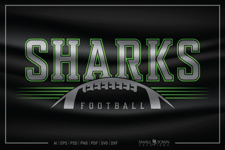 Shark, Shark Football, Football SVG, Shark Football SVG