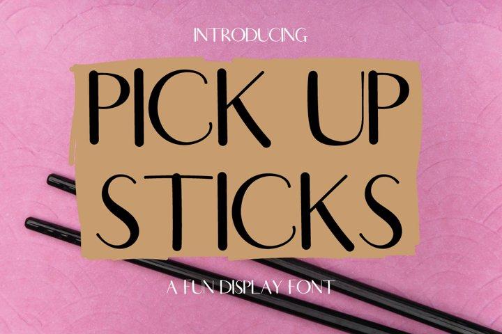 Pick Up Sticks - an all caps font