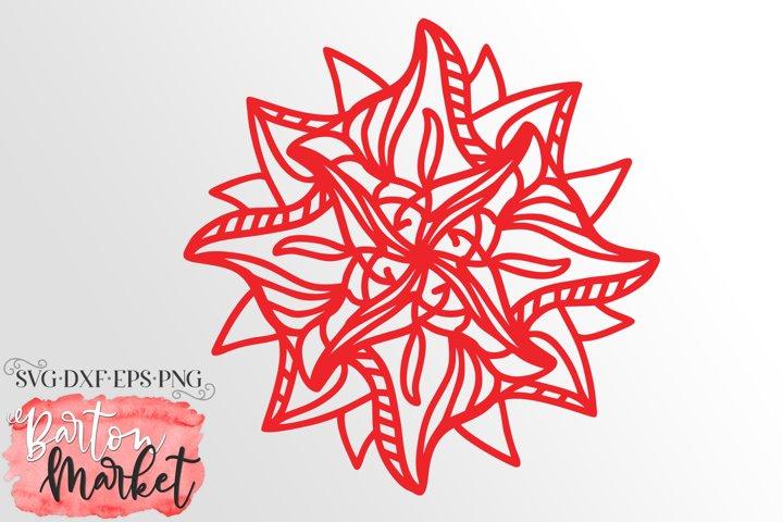 Zagged Flower Mandala SVG DXF EPS PNG