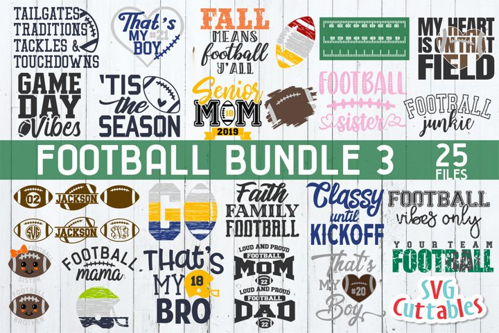 Football SVG Bundle 3 | Football SVG Cut Files