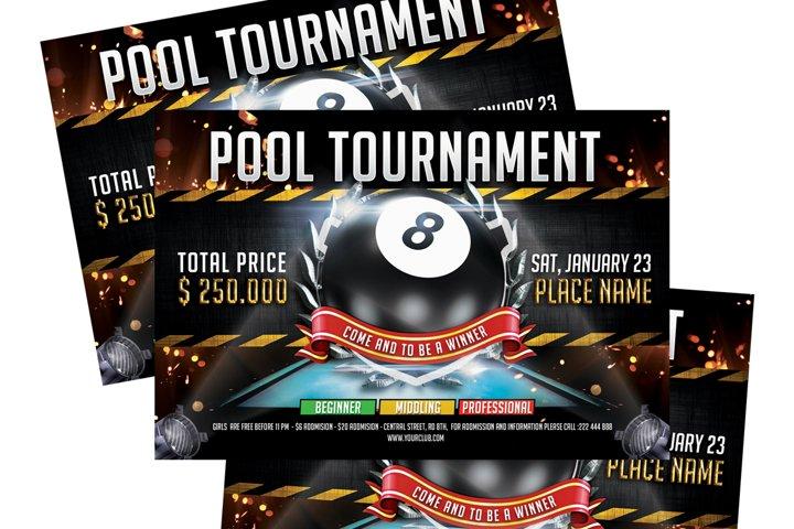 Billiard - Pool Flyer Template