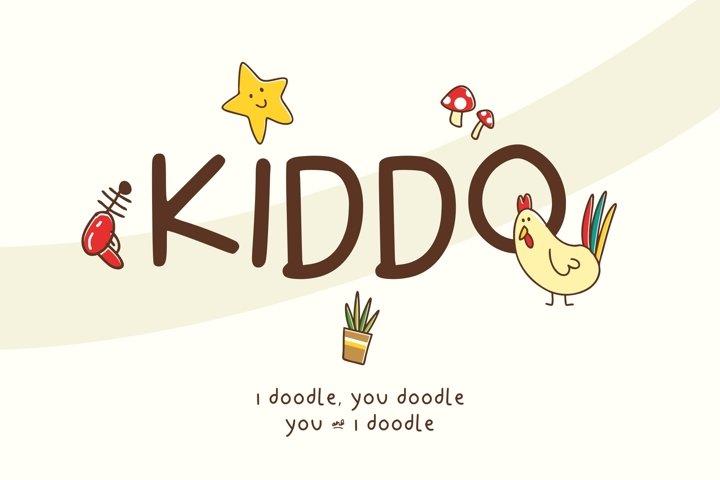 Kiddo font bonus doodles