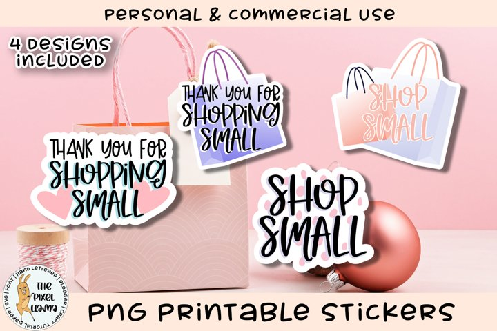 Shop Small Small Business Printable Stickers