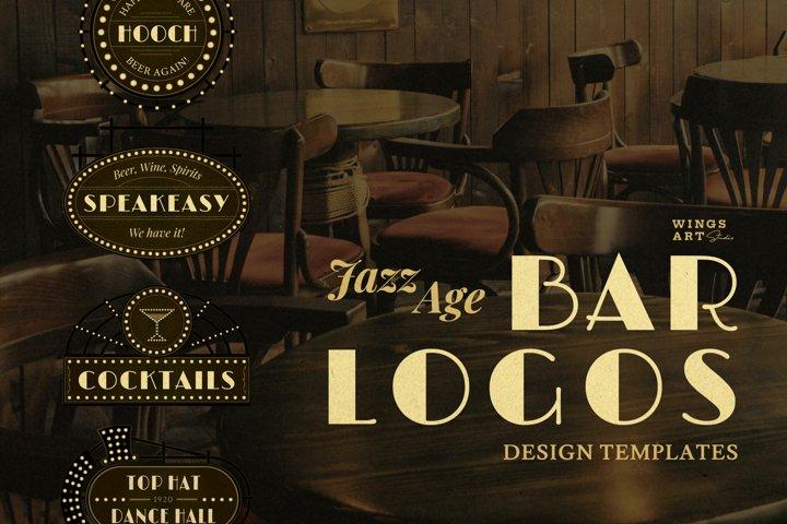 Jazz Age Bar Logo Templates