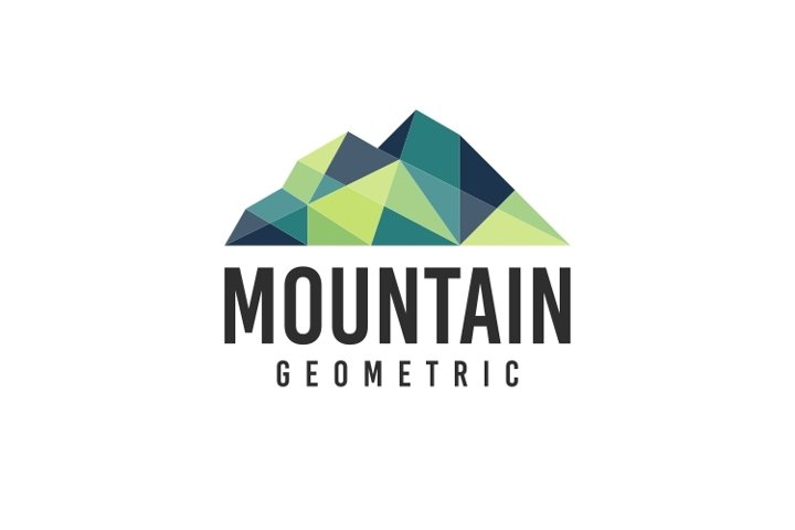 Mountain Geometric Logo Template