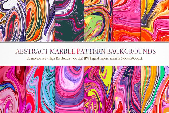 Abstract Marble Pattern Backgrounds - P2