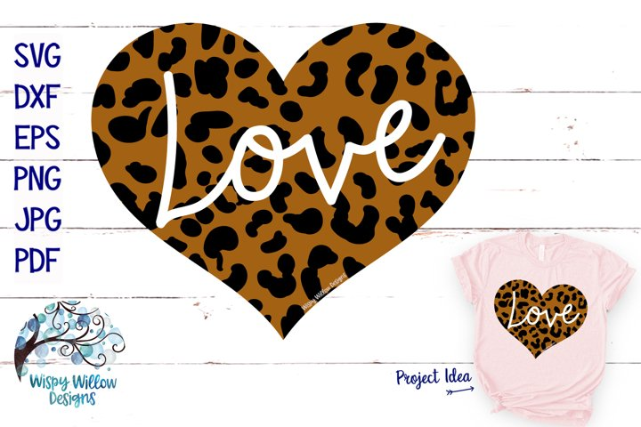 Leopard Love Heart | Leopard Print Valentine's Day SVG example
