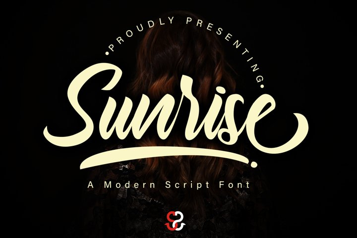 Sunrise script font