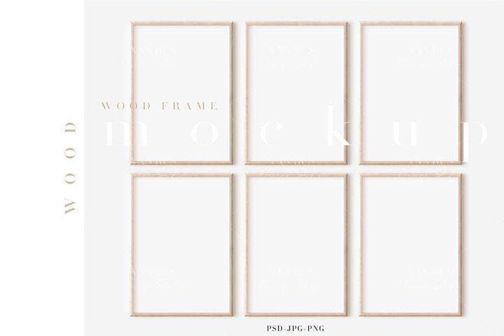 Wood Mockup Frame/Modern Simple A4 Design/JPG PNG PSD/M468