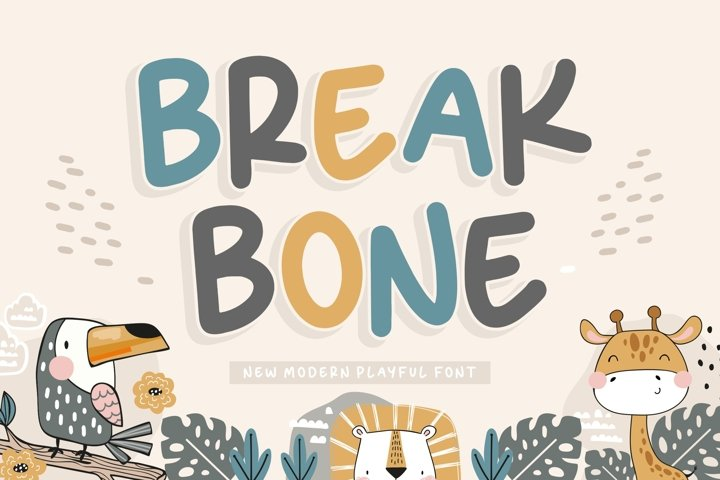 BREAKBONE New Modern Playful Font