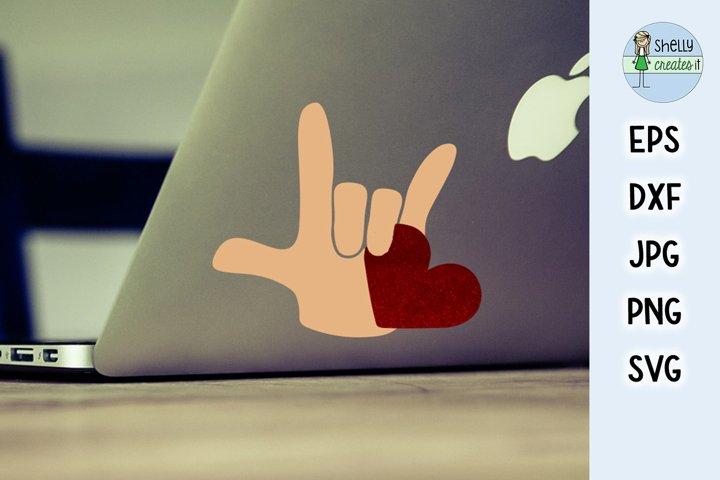 ASL Love decal