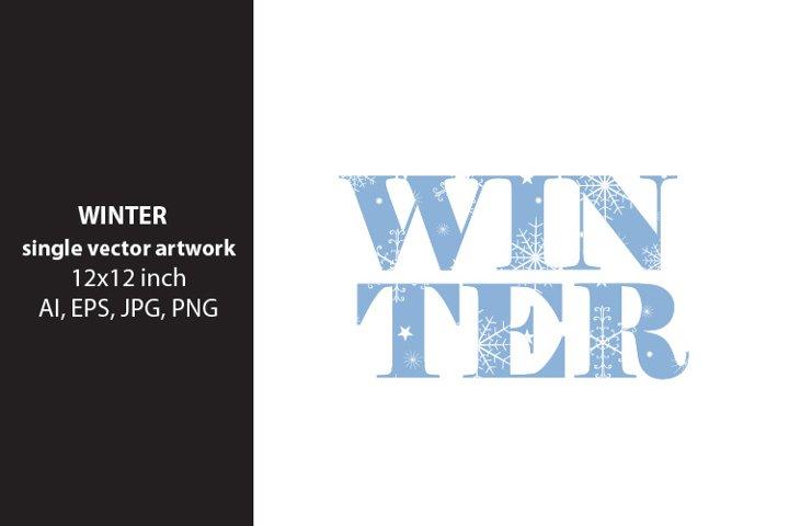 Winter - VECTOR ARTWORK