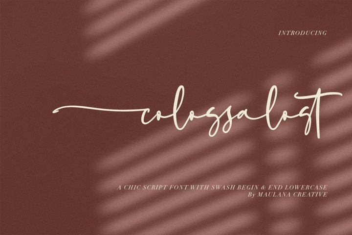 Colossalost Script Font With Swash