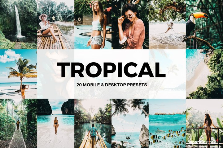 20 Tropical Lightroom Presets and LUTs
