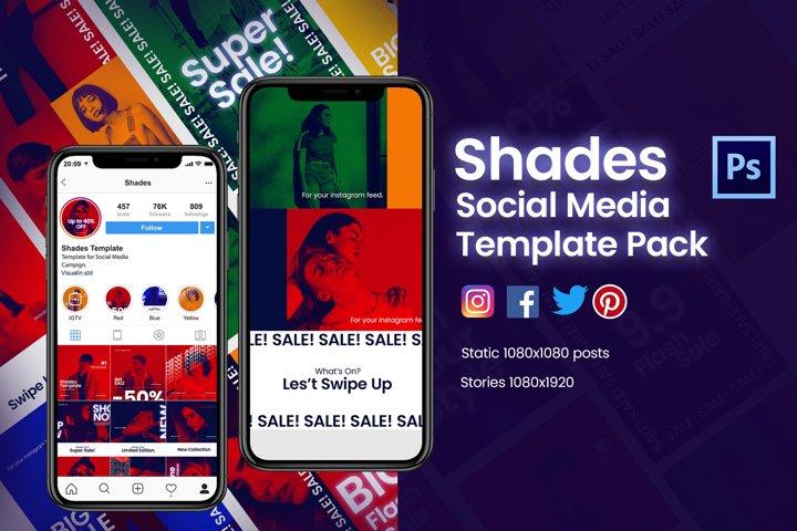 Shades Social Media Template