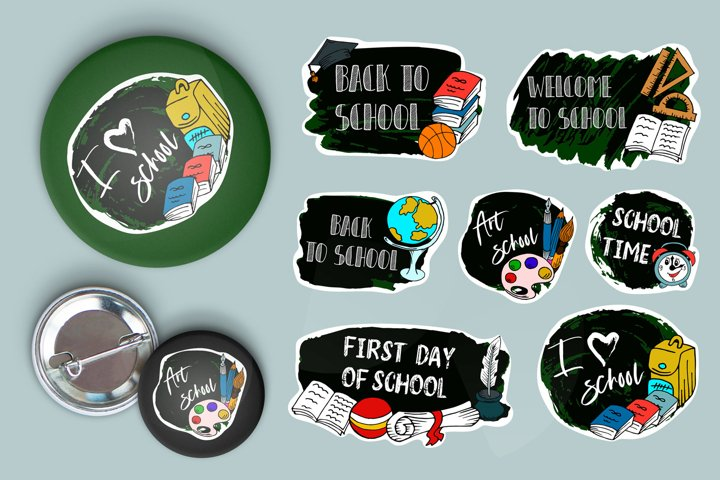 School Background. Sale tag. Vector. Hand drawn lettering