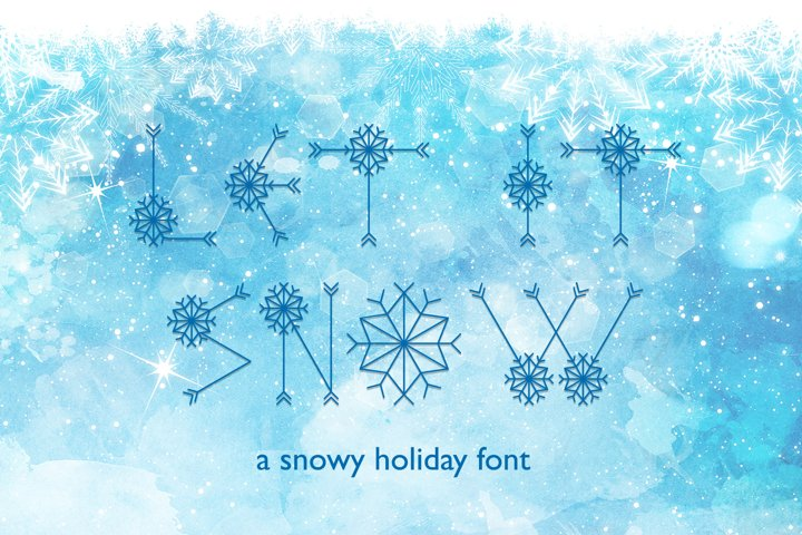 Let It Snow | A Winter Display Font