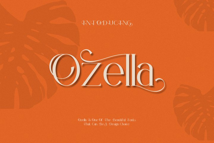 Ozella serif