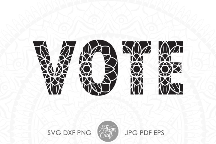 Vote SVG, American election 2020, Election SVG, mandala
