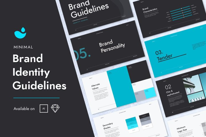 Minimal Brand Identity Guidelines Template