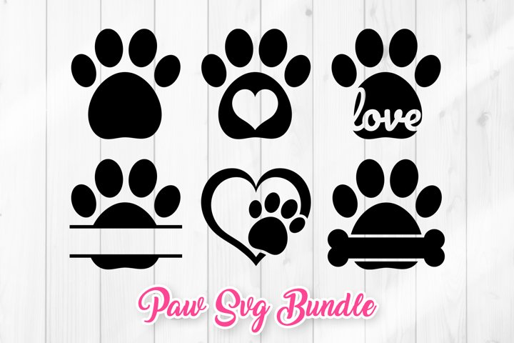 Paw SVG - Dog Paw Prints