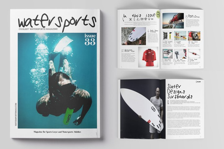 Watersports Magazine Template 32 pag