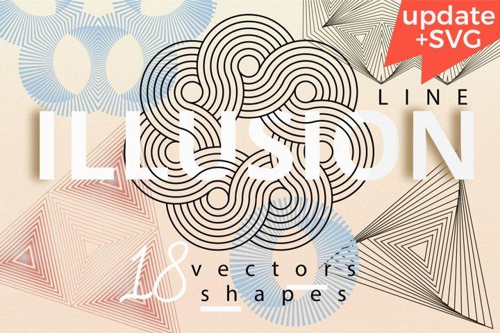 Illusion linear geometric shapes example