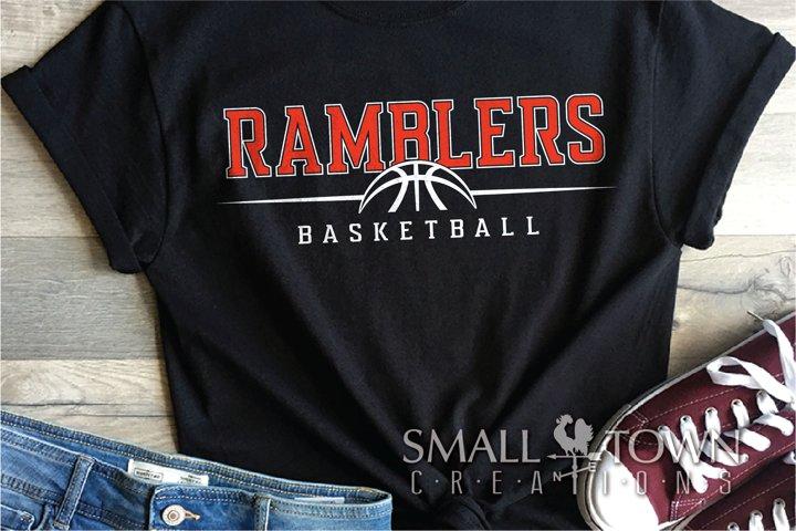Ramblers, basketball, Sports, Team, PRINT, CUT & DESIGN