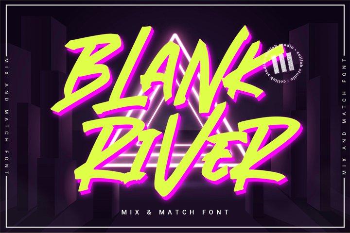 Blank River - A Mix N Match Font