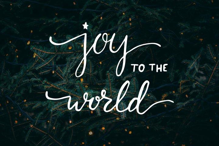 Joy to the world handlettering Christmas SVG