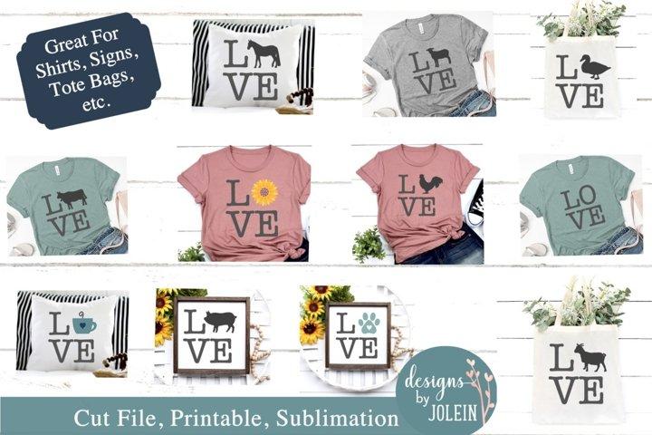 LOVE Bundle SVG, Sublimation, Printable