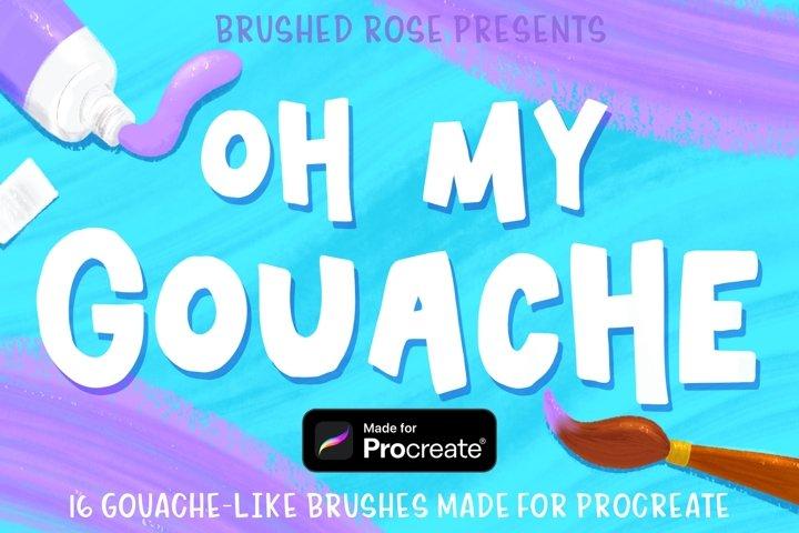 Procreate Brush pack | Gouache brushes