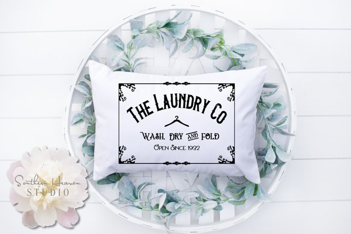 THE LAUNDRY CO. - SVG, PNG, DXF and EPS