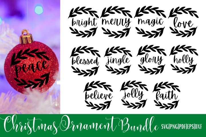 Christmas Ornament SVG Bundle - 12 | V3