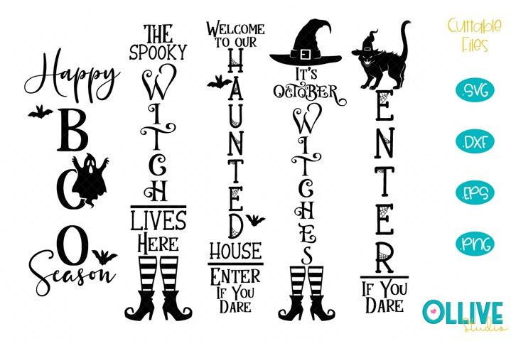 Halloween Porch Sign Quotes SVG Bundle