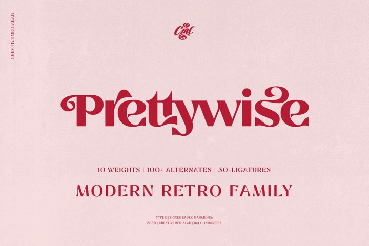 Prettywise Modern Retro Font