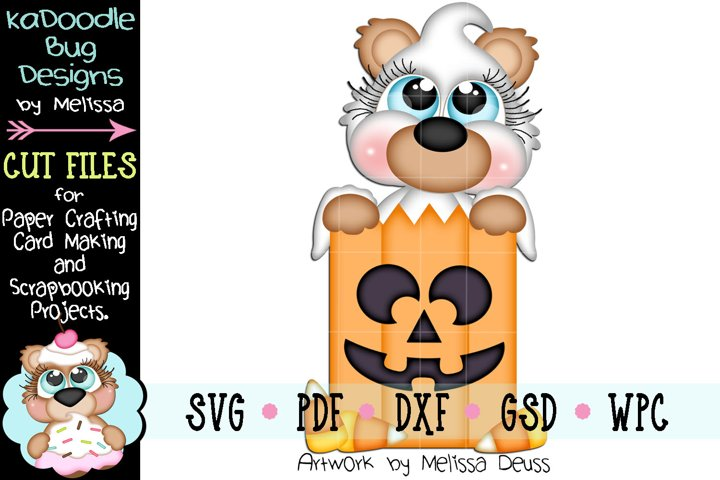 Pumpkin Treat Bag Bear Cut File - SVG PDF DXF GSD WPC