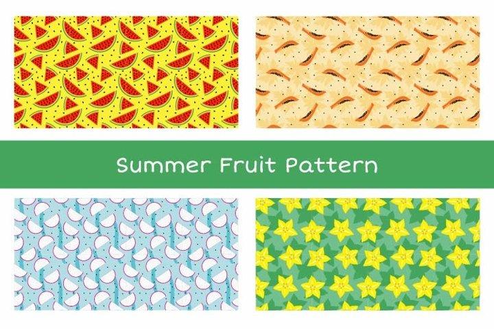 Summer Fruit Seamless Pattern Vol. 1