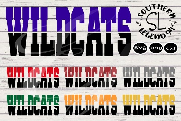 Wildcats two toned bundle 7 designs png svg dxf