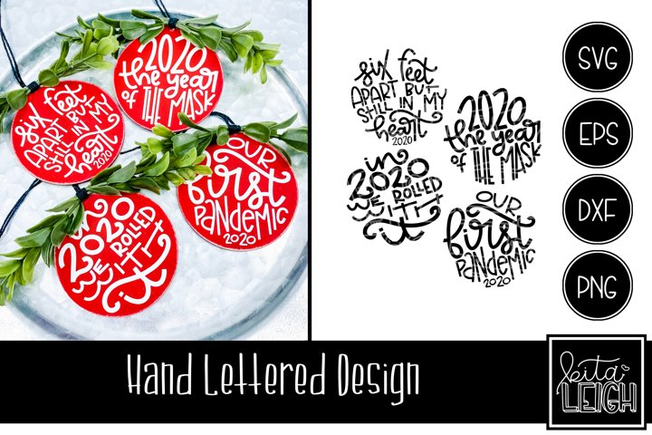 2020 Christmas Hand Lettered Rounds